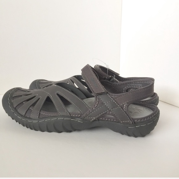 Brand New Jambu JSport Poppy Sandals Grey Sz 9